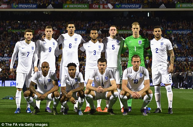 lagfoto för England